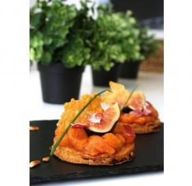 Shortbread salé, Chutney melon-figues