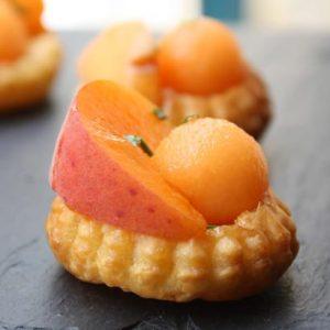 tartelette melon abricot