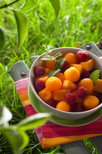 Salade de fruits et melon